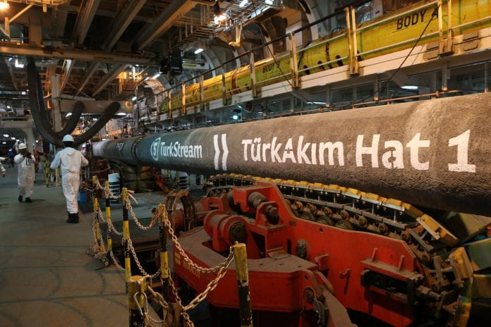 TürkAkım Doğalgaz Boru Hattı Projesi'nin Son Kaynağı Denize İndirildi