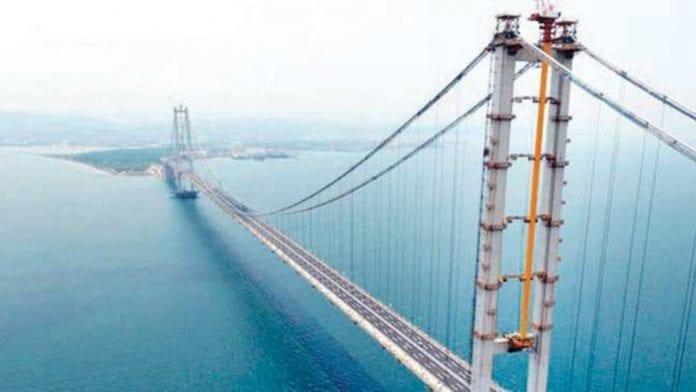 1915 Çanakkale Köprüsü İnşaatında Çalışmalar Tam Gaz Sürüyor
