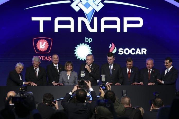 TANAP'ın Avrupa Bağlantısı Tamamlandı