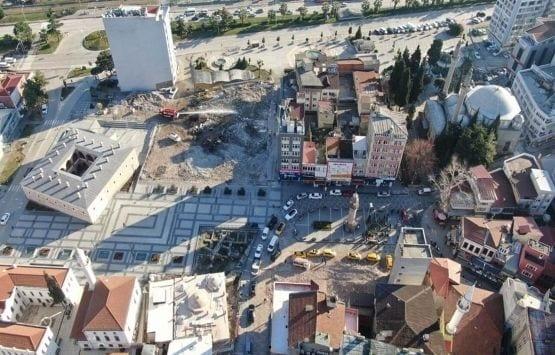 Samsun'da Tarihi Meydanda Çalışmalar Başladı